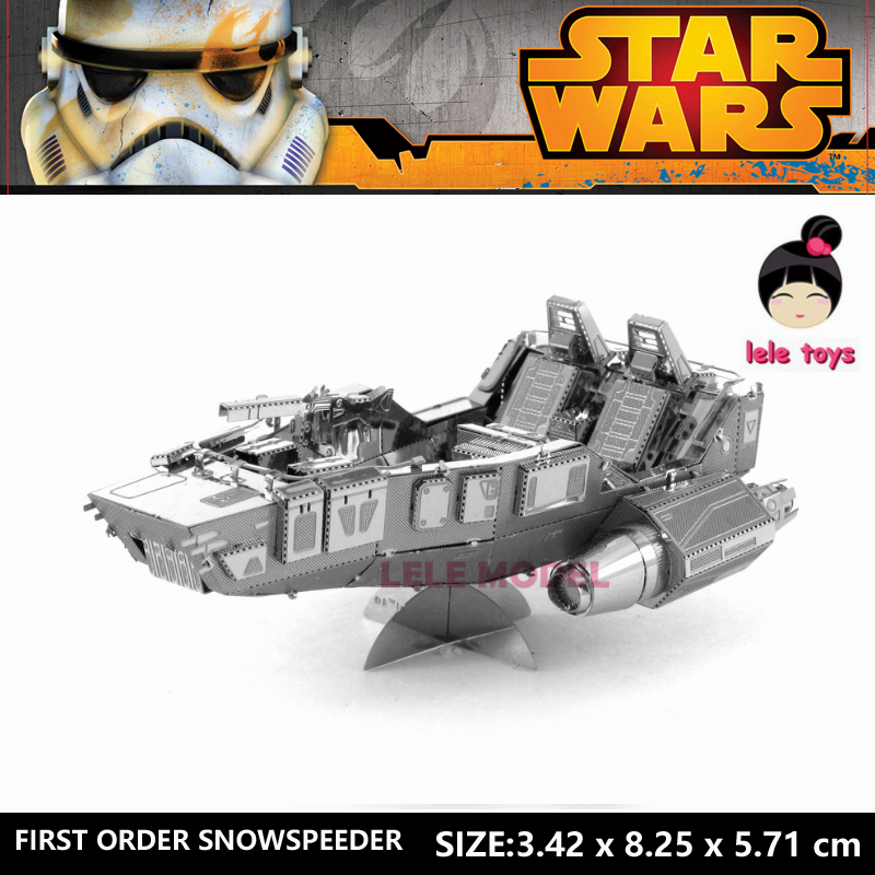FIRST ORDER SNOWSPEEDER Star Wars 3D Metal model Etching puzzle stainless steel DIY creative gifts ICONX  2 Sheets<br><br>Aliexpress