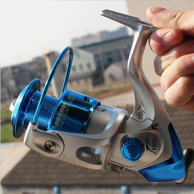 Fishing Professional Spinning Reel; 6 BB; Non-slip Knob;Blue Available, Free Shipping(China (Mainland))
