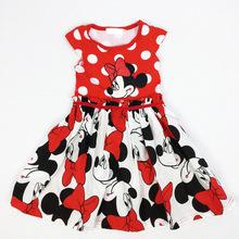 Minnie Mouse Dress Minnie Dresses Girl Cotton Cartoon Dot Summer Dress Baby Princess clothes robe vestido minnie 0-4Y