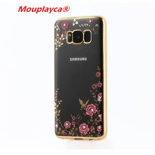 Buy Mouplayca Coque Samsung S8 S8plus Case Secret Garden Flowers Rhinestone TPU Case Samsung Galaxy s8 s8plus Phone Cases for $2.39 in AliExpress store