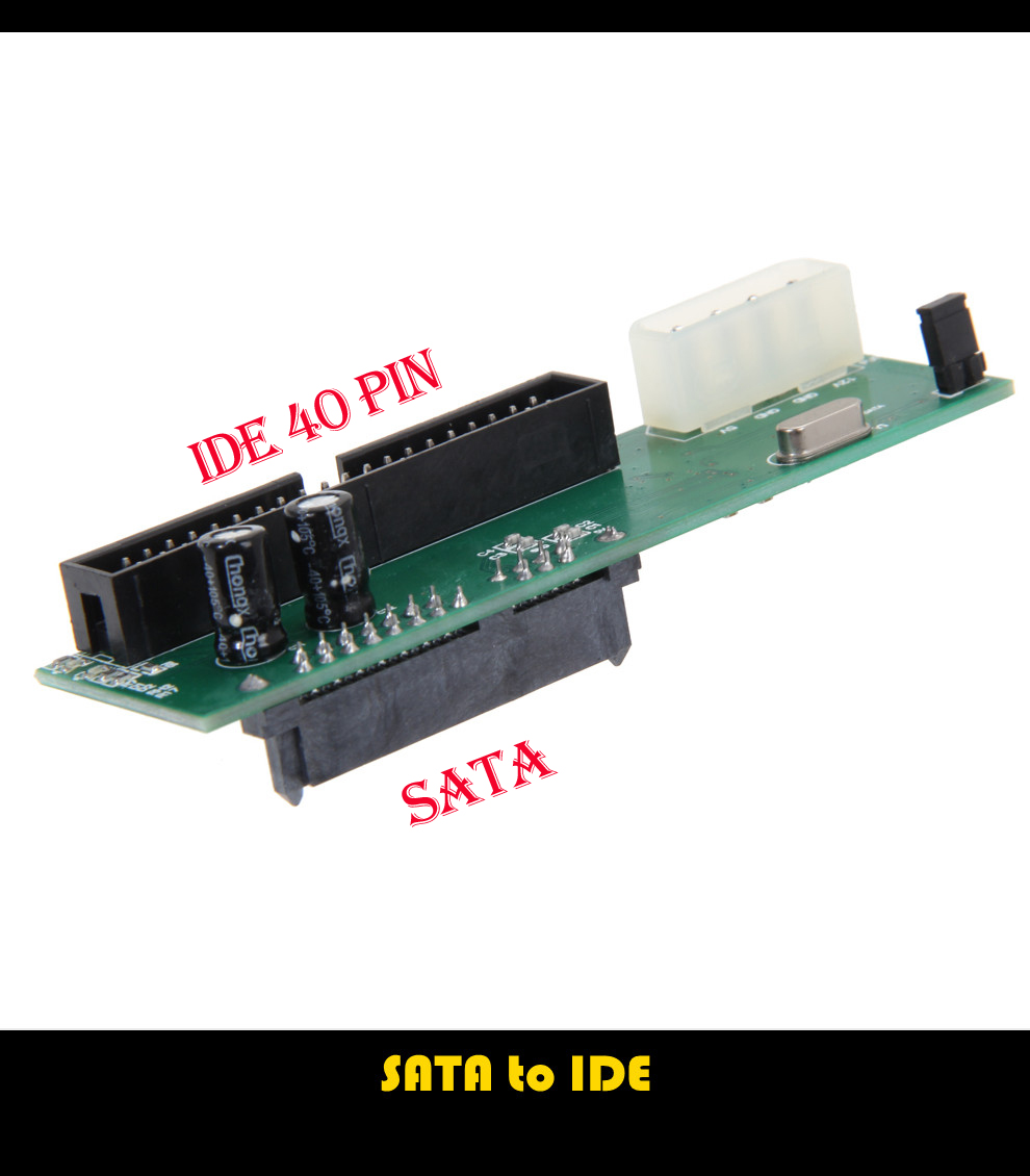 """New Sata to IDE 2.5 Sata Female to 2.5"""" inch IDE Male 40pin port 1.5Gbs Support ATA 133 100 HDD CD DVD Serial Adapter Converter(China (Mainland))"""