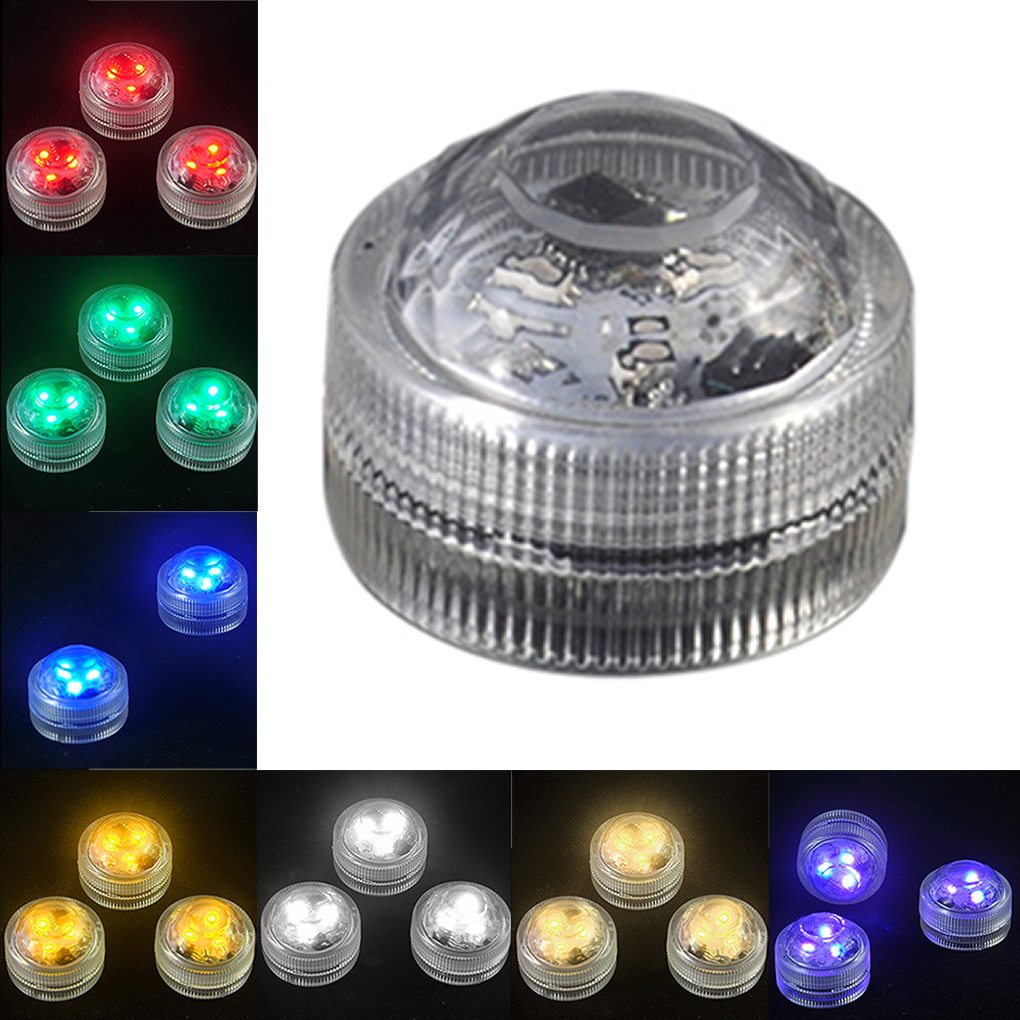 3LED Waterproof Submersible Floating Candle Light For Xmas Party Decoration Lamp(China (Mainland))