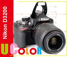 Original nuevo NIKON D3200 DSLR cuerpo de la cámara negro + AF-S 18 - 55 mm lente KIT(Hong Kong)