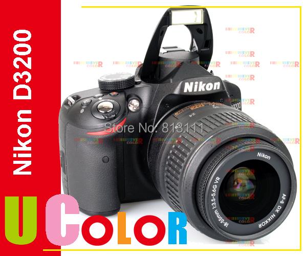 Original New NIKON D3200 DSLR CAMERA BODY BLACK + AF-S 18-55mm LENS KIT(Hong Kong)