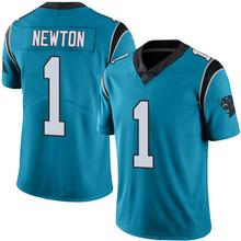 Men's #1 Cam Newton Elite Blue Rush Football Jersey %100 Stitched(China (Mainland))