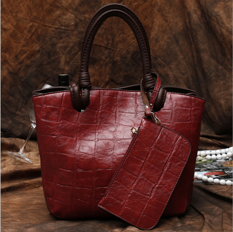 purses and handbags Brand Bag Composite Genuine Leather Handbag Women Leather Handbags Shoulder Bag Women Messenger Bags(China (Mainland))