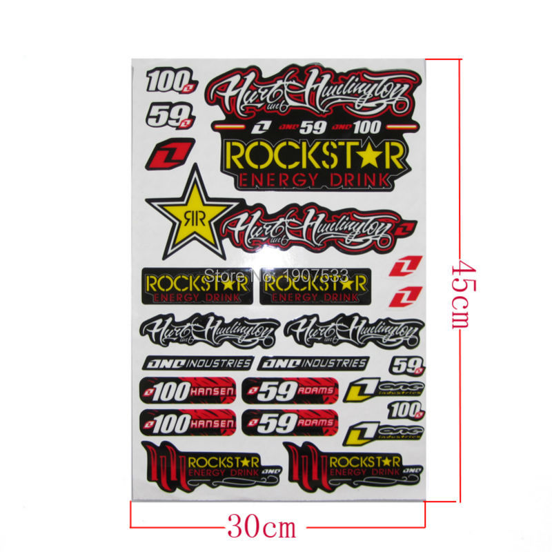 ROCKSTAR Free shipping ATV decals graphics moto stickers wholesale Cheap motocross scooter available(China (Mainland))