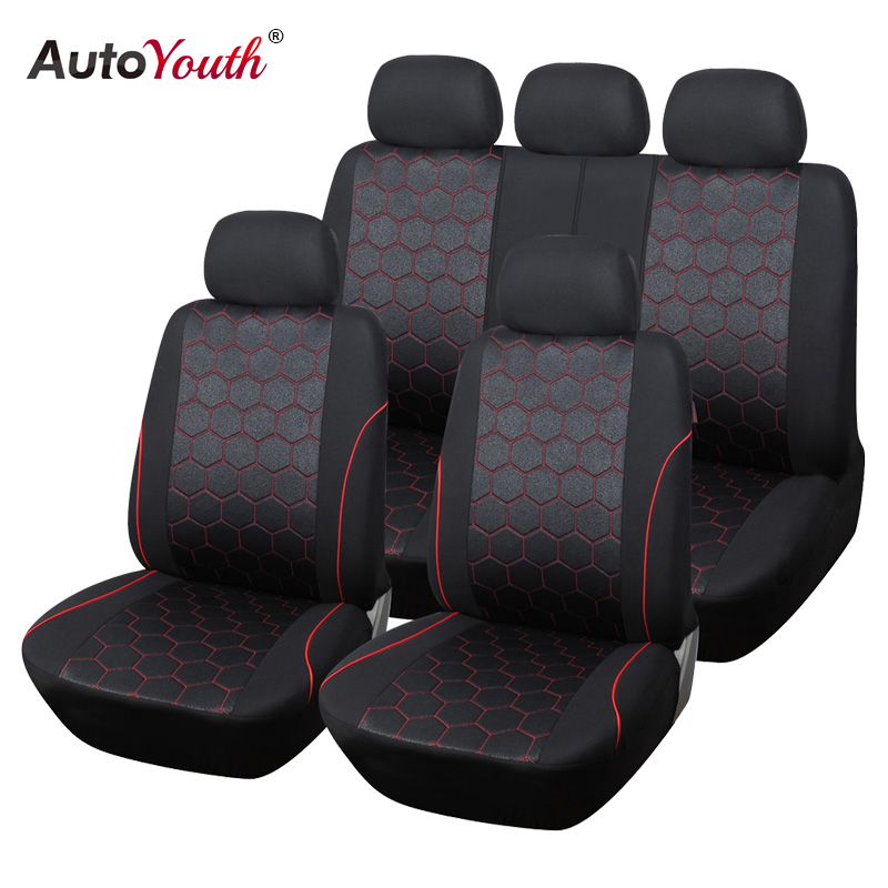 AUTOYOUTH Soccer Ball Style Jacquard Full Car Seat Covers Set Universal Fit Most Car Covers Interior Accessories Seat Covers(China (Mainland))