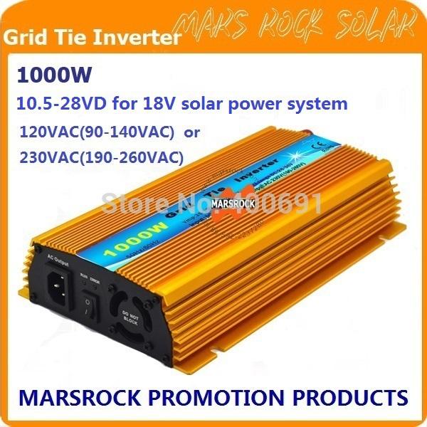 1000W Micro grid tie Solar Inverter, Pure Sine Wave, MPPT function for 18V(10.5V~28VDC), 90V-140V/180V~260VAC, 50Hz-60Hz(China (Mainland))