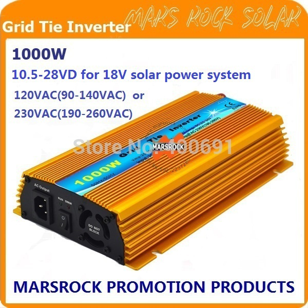 1000W Micro grid tie Solar Inverter, Pure Sine Wave, MPPT function for 18V(10.5V~28VDC), 90V-140V/180V~260VAC, 50Hz-60Hz(China (Mainland))