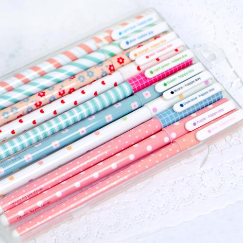 10 Pcs / pack , New Cute Cartoon Colorful Gel Pen Set Kawaii Korean Stationery Creative Gift School Supplies Free shipping