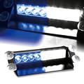 DC12V 8 Led Car Police Strobe Flash Light Dash Emergency Warning 3 Flashing Lamp Blue White