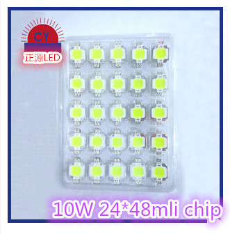 Free Shipping 200pcs/lot 10W Chip Bulb led 10w chip 900lm Lamp Light White Warm white High Power 20*48mli Chip for flood lamp(China (Mainland))