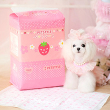 New Arrival Strawberry cartoon diapers Absorbent pet dog pad puppy cat diapers dog Indoor Toilet Training Pads  pet supplies