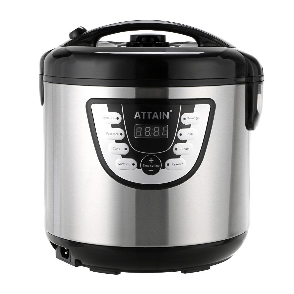 Multi Function Rice Cooker 750W Pressure Cooker 2 2 Litre Timer LED Display