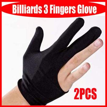 New Billiards Pool Snooker Cue Shooters 3 Fingers Glove Black