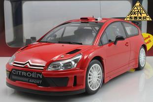 Autoart 1:18 Citroen C4 race wrc alloy car model Red - New year gift