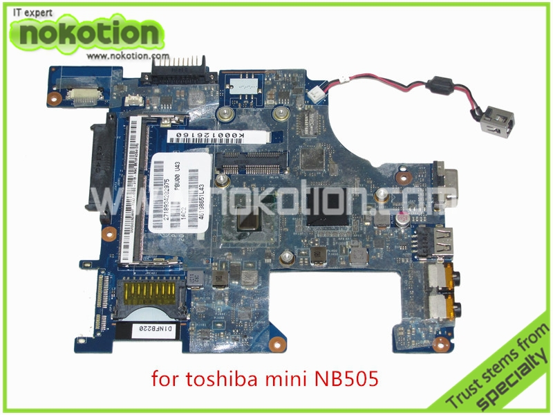 PBU00 LA-6851P REV 1A K000126160 For toshiba satellite NB500 NB505 Motherboard DDR3 Intel Atom N455 CPU GMA(China (Mainland))