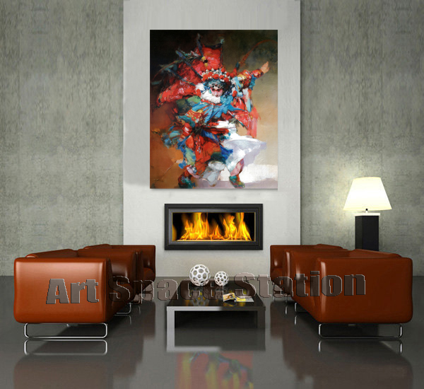Original Abstract Art Chinese Peking Opera Picture Oil Painting Printing On  Canvas Opera Photo Asian Wall