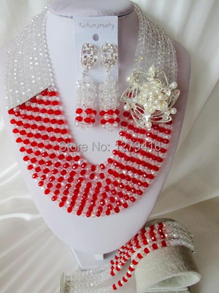 Glamorous Crystal Beads Nigerian Wedding Beads , African Beads Jewelry Set C1622<br><br>Aliexpress