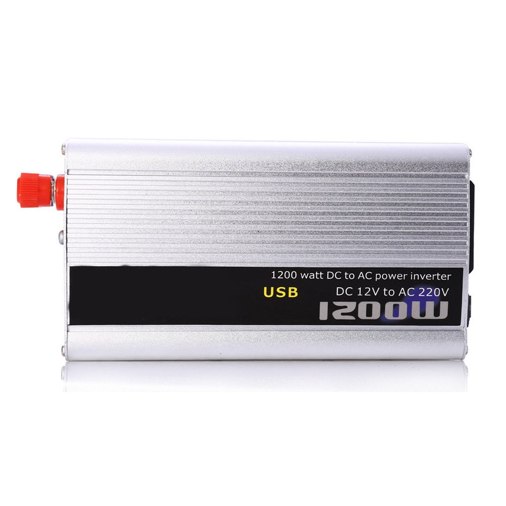 2016 Car Inverter 1000W DC 12V AC 220V Auto Power Supply Switch On Board Charger High Converting Efficiency Safely Shuts Down(China (Mainland))