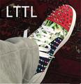 New 2016 Big Size 39 46 Spike Shoes Men Brand LTTL Fashion Flats High top Mens