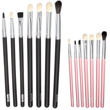 New Wholesale 7pcs/Set Makeup Brush Sets Eyeshadow Beauty Comestic Brushes Tools Kit 2 Color To Choose Free Shipping