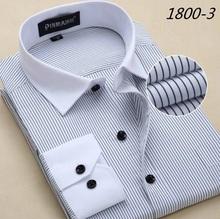 Men Shirt  2016 Striped Shirt Men Brand Business Casual Long Sleeve Turn-down Collar Striped Men Dress Shirt Men Clothes 5XL 6XL(China (Mainland))