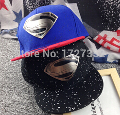 2015 New Arrival Dot Adult Active Free Cap Gorras Planas Fashion S Superman Hip-hop Baseball Adjustable Snapback Unisex(China (Mainland))