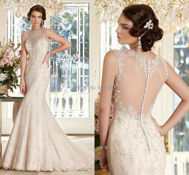 Последние дизайнер свадебное платье без рукавов с кружевными аппликациями органзы ...