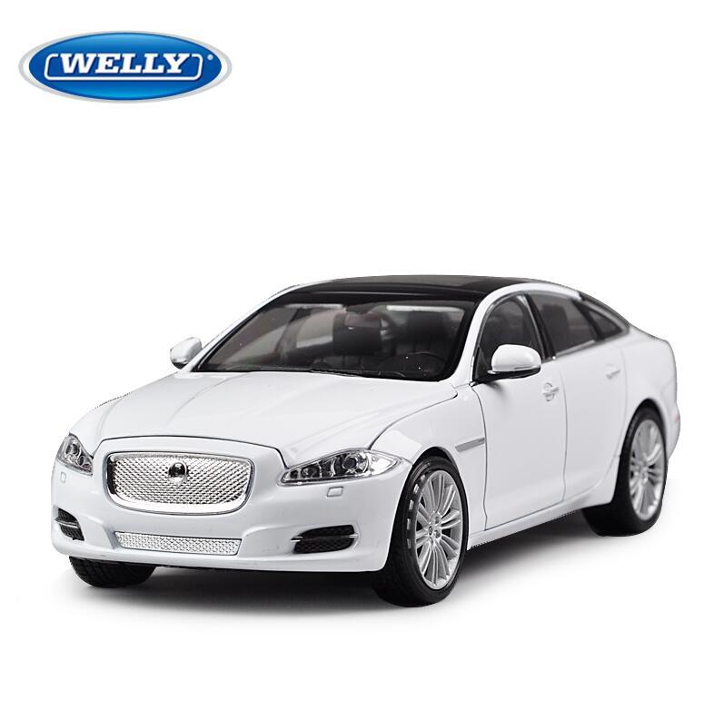 New Large Simulation Alloy Car Wholesale toys Welly alloy 1:24 cars Jaguar XJ genuine one generation Original Box Free Shipping(China (Mainland))