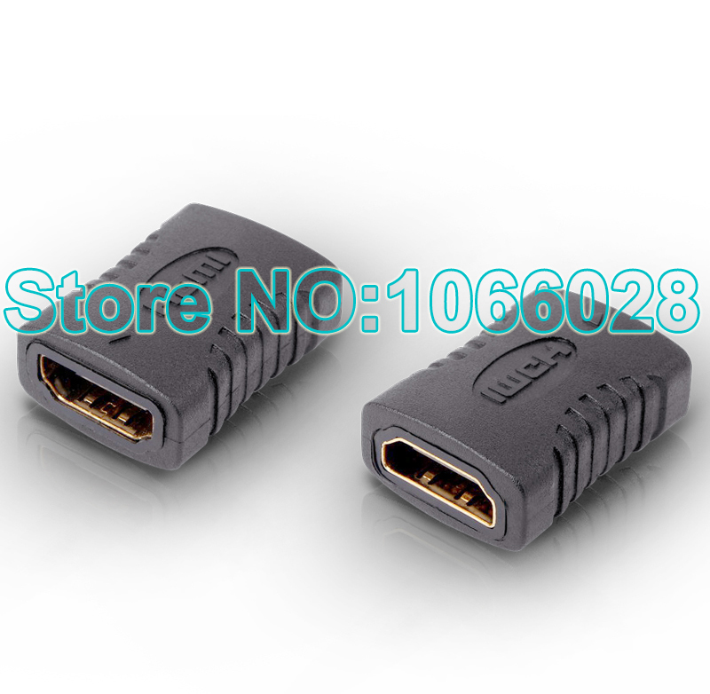 Free shipping 2pcs HDMI Female to HDMI Female Extender Adapter Connector cable for HDTV HDCP 1080P high quality(China (Mainland))