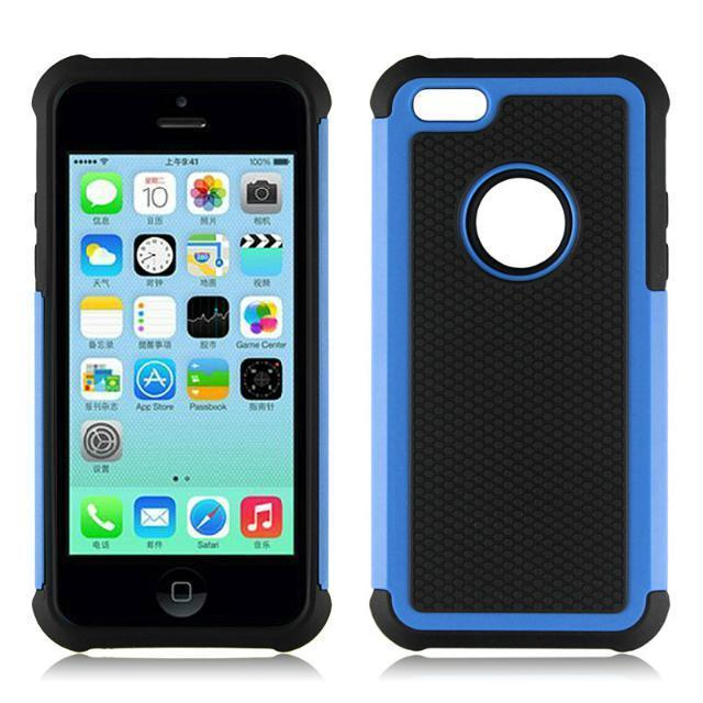 For Apple iphone 5C Case Cover 2in1 Shockproof Heavy Duty Impact Rugged Hard Mobile Phone Back Cases Covers(China (Mainland))