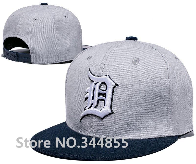 Gray Men's Detroit Tigers Hats Navy Blue Visor Team Logo Embroidery Sport Snapback Caps(China (Mainland))