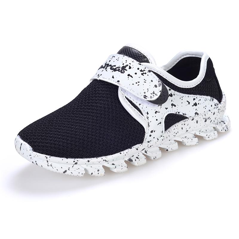 Boys Summer Casual Sneakers Kids Black Sport Shoes Children Trainers Brand Enfant Air Mesh Soft Infantil Menino Running Slip On(China (Mainland))
