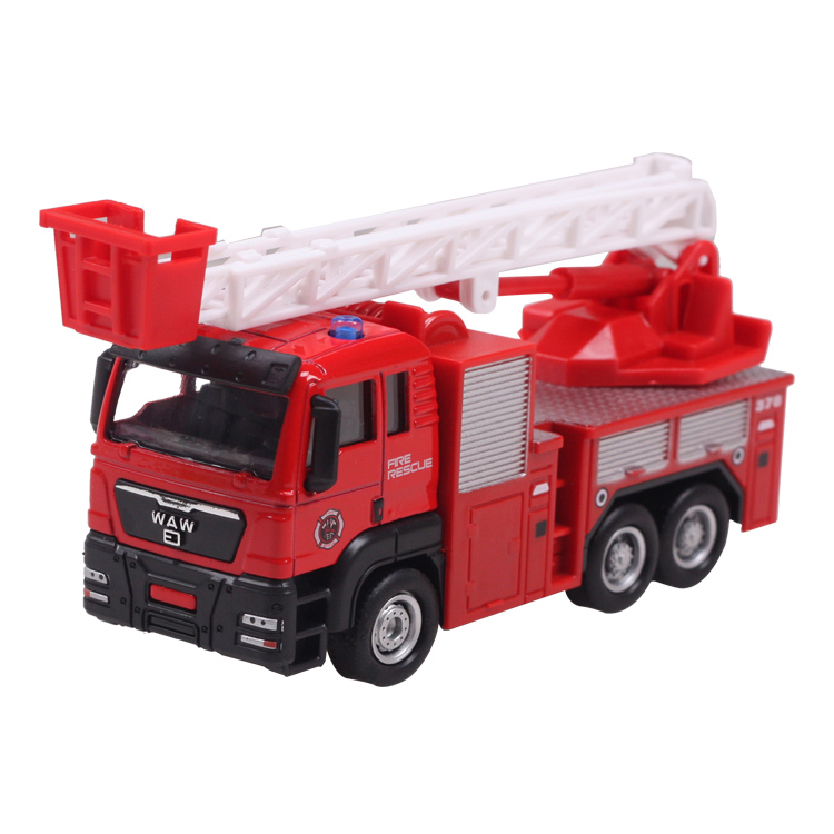 Model toys Aerial ladder fire truck engineering van kids dream high quality hot sale EXTREMELY creative novelty(China (Mainland))
