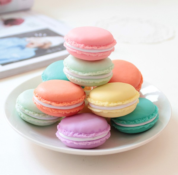 6pcs Fashion Candy Color mini Macaron Plastic Storage Boxes Jewelry Organizer Sundries Pill Container Christmas Gift Wholesale(China (Mainland))