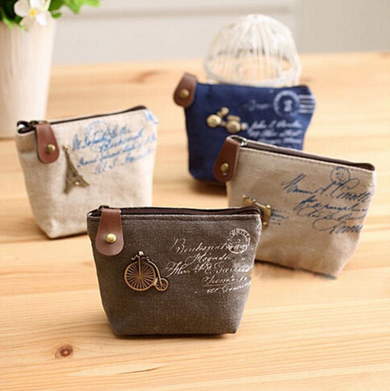 New HOT Fashion women canvas coin purse cute Vintage Wallets Storage bags monederos Card bags bolsas carteira feminina(China (Mainland))