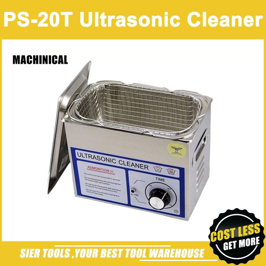 PS-20T 3.2L,120W Stainless Steel Ultrasonic Cleaner + washing basket/Knob Control Ultrasonic Washing Machine/1 pc head(China (Mainland))