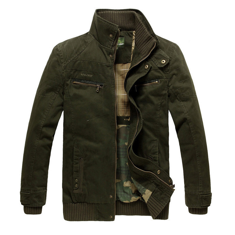 Free Shipping Afs Jeep Brand Military Style Jackets Coat Men Dress 2016 New Men Clothing Plus