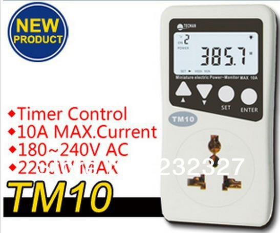Hotsale TM10 timed version of the mini-power monitor Genuine mini digital voltmeter Free Shipping power current voltage tester(China (Mainland))