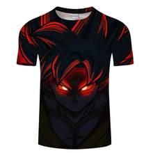 2019 новые футболки с драконом и мячом Z мужские летние повседневные футболки с 3D принтом Супер Саян Гоку черного цвета Zamasu Vegeta Dragon Ball(China)