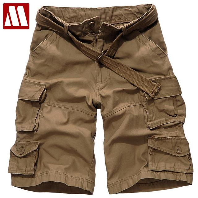2016 новый летний мода мульти-карман брюки-карго мужчины шорты свободного покроя ...