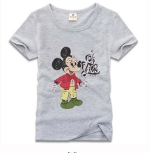 Free shipping 2016 new Summer colourful Mickey cartoon Baby Kids Girls Boys 100 cotton Tees Tops