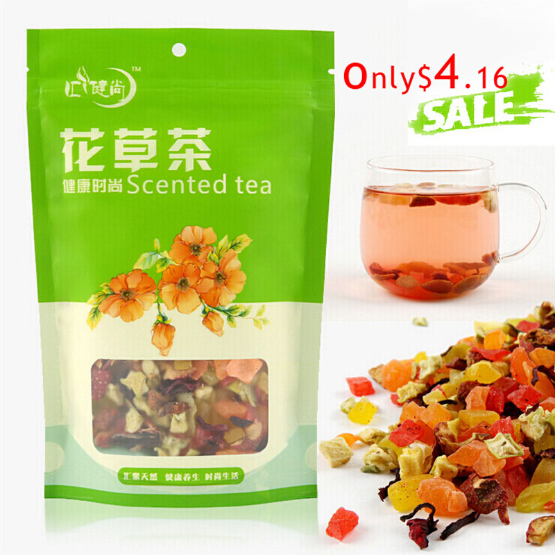 free shipping 5A 100g Chinese fashion fruit tea delay senility flavored tea lose weight the Improve