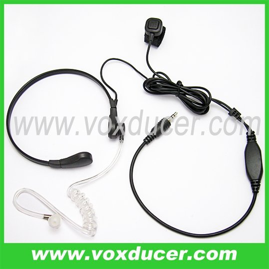 Interphone accessories finger PTT throat vibration headphone for Motorola Visar transceiver