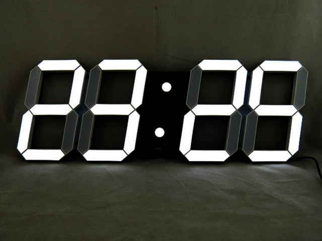 Noir cr ative de la t l commande grande led num rique horloge murale design moderne home decor for Grande pendule murale design