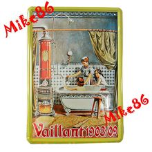 Buy Mike86 Vaillant 1908/09 Kids Shower Vintage Poster Metal Tin sign House wall decor Metal Painting A-398 Mix order 20*30 CM for $4.95 in AliExpress store