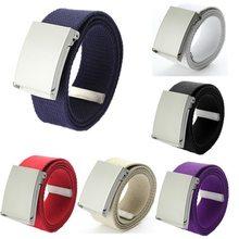 Fashion Cotton Canvas Belts for Mens Cintos Plain Webbing Boys Women Candy Color Waist Belt Waistband Clothes Accessories