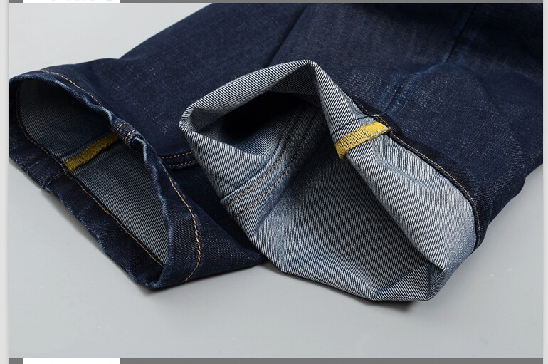 Топ бренда джинсы 2015 мужские джинсы свободного покроя мужчины мода удобные четыре сезона регулярно подходят тонкие джинсы